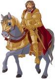Medeltida konung Horseback stock illustrationer