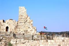 Medeltida korsfarare rockerar, Al Karak, Jordanien fotografering för bildbyråer