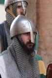 medeltida krigare Arkivfoto