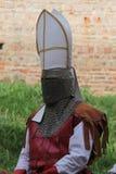 medeltida krigare Royaltyfri Bild
