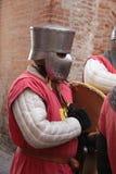 medeltida krigare Royaltyfri Fotografi