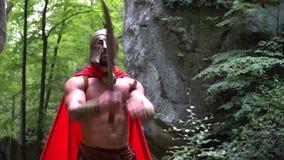 Medeltida krigare i träna arkivfilmer