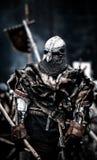 medeltida krigare Medeltida strid & x28; reconstruction& x29; Tjeck royaltyfri foto