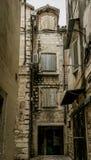 Medeltida kroatisk gata i splittring Arkivfoto