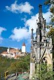 Medeltida kunglig gotisk slott Krivoklat, Tjeckien royaltyfri bild