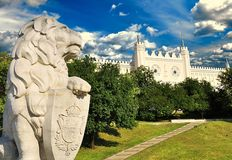 Medeltida kunglig slott i Lublin, Polen Arkivbilder
