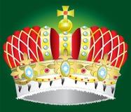 medeltida kunglig vektor för abstrakt krona Arkivbild