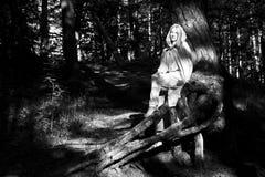 medeltida kvinna Royaltyfria Bilder