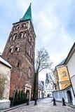 Medeltida kyrka av den Sanka Jacob, Riga stad, Lettland royaltyfri bild