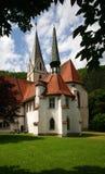Medeltida kyrka i Blaubeuren Arkivbild