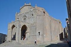 Medeltida kyrka i Erice Arkivfoton