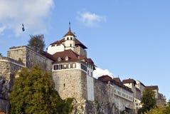 medeltida kyrklig fästning Arkivfoto