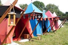medeltida läger arkivbild