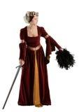 medeltida lady Fotografering för Bildbyråer