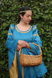 medeltida lady Royaltyfri Fotografi