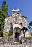 Medeltida Little kyrka Fotografering för Bildbyråer