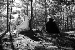 Medeltida man och kvinna Royaltyfri Bild