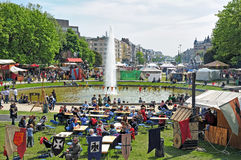Medeltida marknad av Etterbeek Fotografering för Bildbyråer