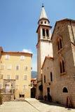 medeltida montenegro för budva gammal town Royaltyfria Bilder