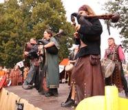 medeltida musiker Royaltyfri Foto