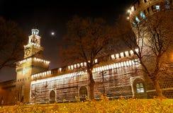 medeltida natt för 11 slott Fotografering för Bildbyråer