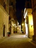 medeltida natt för stadsmdina Royaltyfri Bild