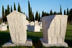 Medeltida nekropol Radimlja, Bosnien och Hercegovina Arkivfoto