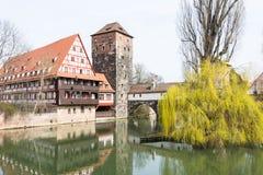Medeltida Nuremberg Arkivbild