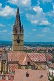 medeltida panorama för stad arkivfoton