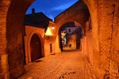 medeltida passage Fotografering för Bildbyråer