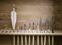 Medeltida pilar och arrowheads Royaltyfri Bild