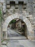 medeltida port Arkivbild