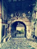 medeltida port Royaltyfri Bild