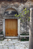 medeltida portal royaltyfria foton