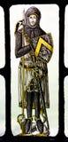 Medeltida riddare Yale för Bonawit målat glass Royaltyfria Foton