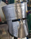 Medeltida riddarehjälm för reproduktion Royaltyfri Fotografi