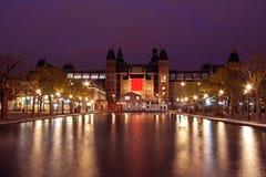 Medeltida Rijksmusseum i Amsterdam Nederländerna Royaltyfri Foto