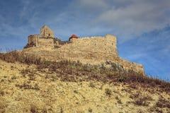 Medeltida Rupea fästning, Rumänien Arkivfoton