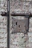 Medeltida säkerhet - lås och bult Royaltyfria Foton