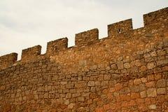 medeltida säkerhetsvägg Arkivbilder