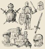 medeltida samling Arkivbilder