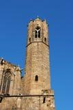 medeltida santa för agatabarcelona kapell torn Arkivbild