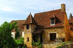 medeltida sarlat för france hus Arkivfoto