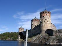 medeltida savonlinna för slott Arkivbilder