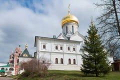 Medeltida Savvino Storozhevsky kloster Arkivfoton