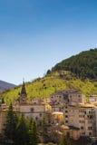 Medeltida Scanno by, Abruzzo, Italien Arkivfoto