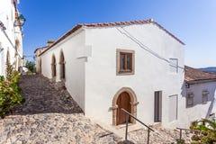 Medeltida Sephardic synagoga (13th/det 14th århundradet) i Castelo de Vide Arkivbild