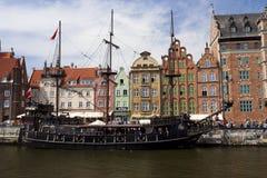 medeltida ship Royaltyfria Bilder