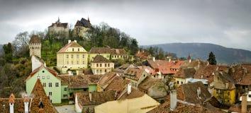 medeltida sighisoaratown transylvania royaltyfri fotografi