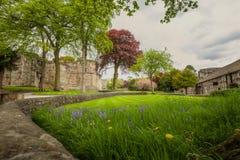 Medeltida Skipton slott, Yorkshire, Förenade kungariket Arkivbild